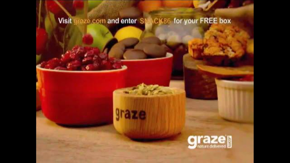 Watch video· Graze Food Delivery TV Spot, 'First Box Free' Submissions should come only from the actors themselves, their parent/legal guardian or casting agency. Please include at least one social/website link containing a recent photo of the actor. Submissions without .