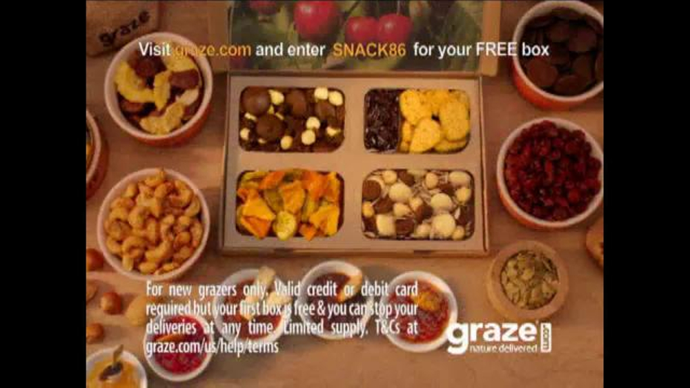 Graze Promo Code & Coupons. 8 verified offers for November, Coupon Codes / Food & Grocery / Food / Graze Promotion Code. Add to Your Favorites. from 50 users. We have 8 Graze coupon codes for you to choose from including 8 sales. Most popular now: Try 75%(49).