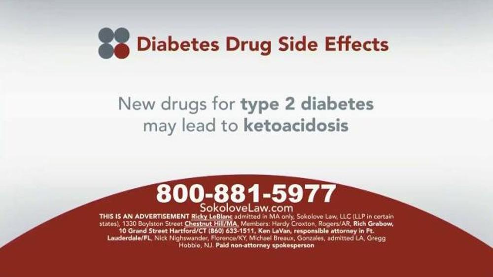 Pulaski Law Firm >> Sokolove Law TV Spot, 'Diabetes Drug Side Effects' - iSpot.tv