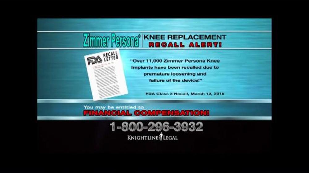 Pulaski Law Firm >> Knightline Legal TV Commercial, 'Zimmer Persona Alert ...