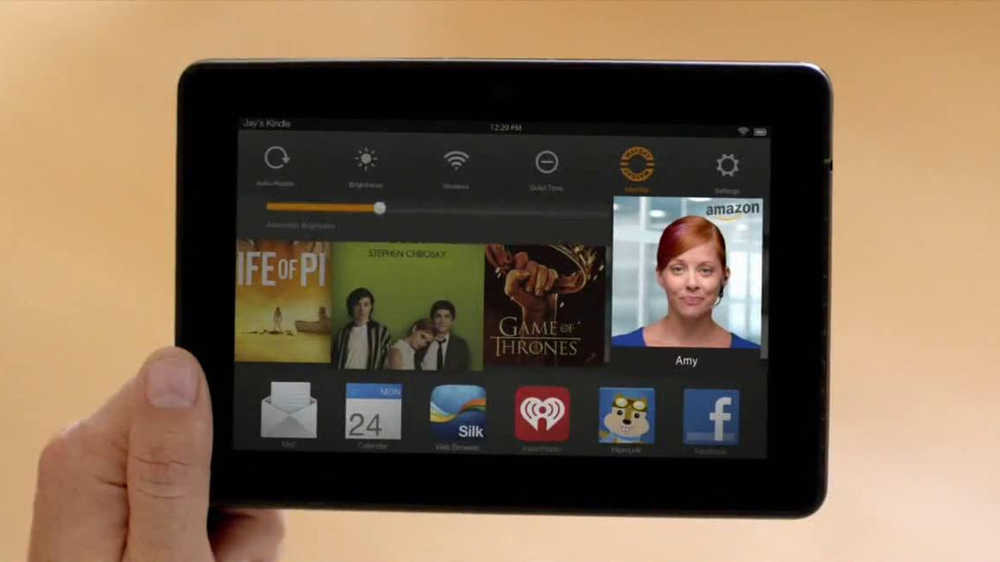 Amazon Kindle Fire HDX TV Spot, 'Mayday' - Screenshot 6