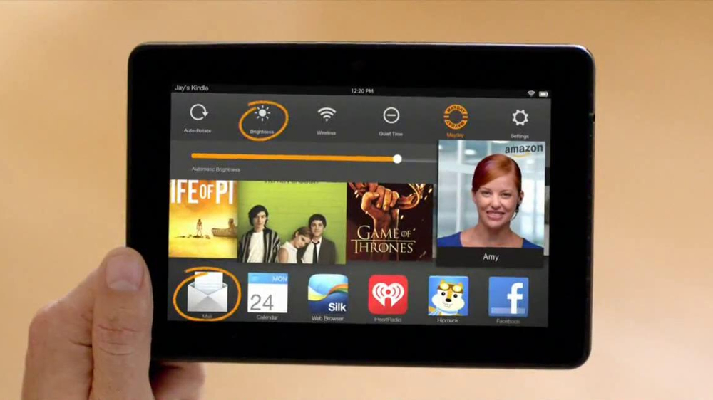Amazon Kindle Fire HDX TV Spot, 'Mayday' - Screenshot 7