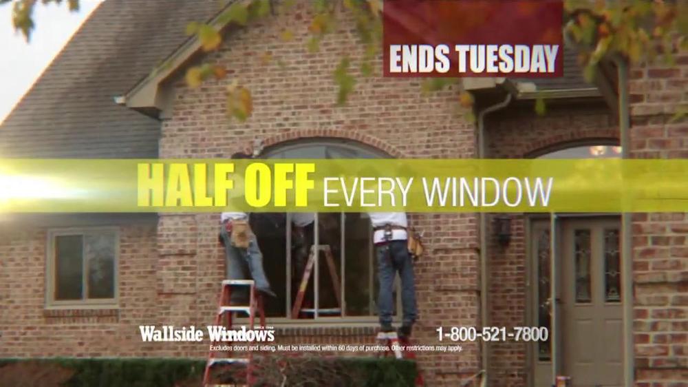 Wallside windows fall window sale tv commercial for Wallside windows