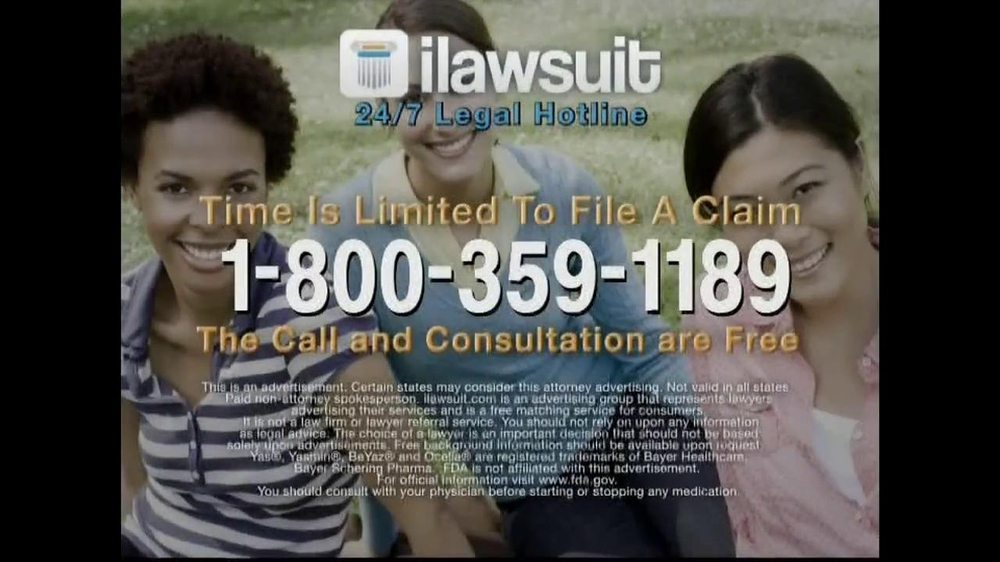 iLawsuit Legal Hotline TV Spot, 'Yaz' - Screenshot 9