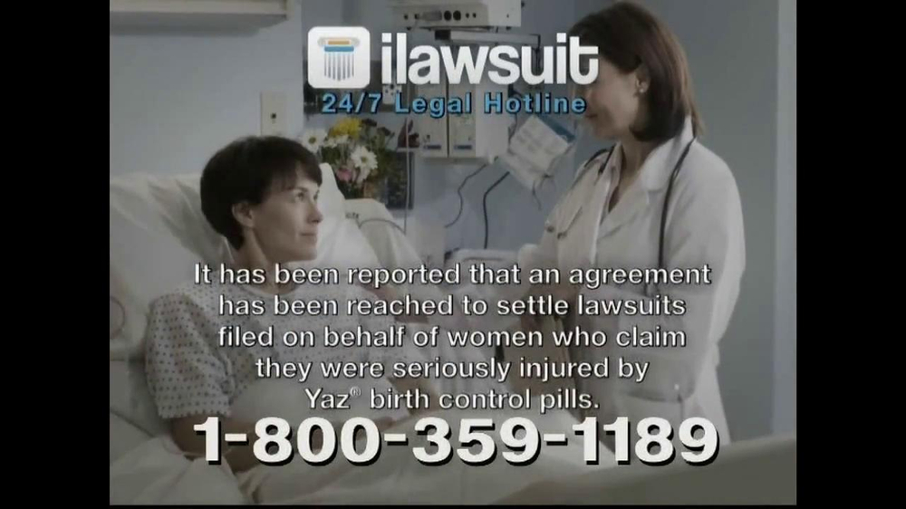 iLawsuit Legal Hotline TV Spot, 'Yaz' - Screenshot 2