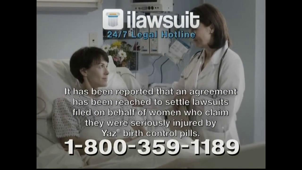 iLawsuit Legal Hotline TV Spot, 'Yaz' - Screenshot 3