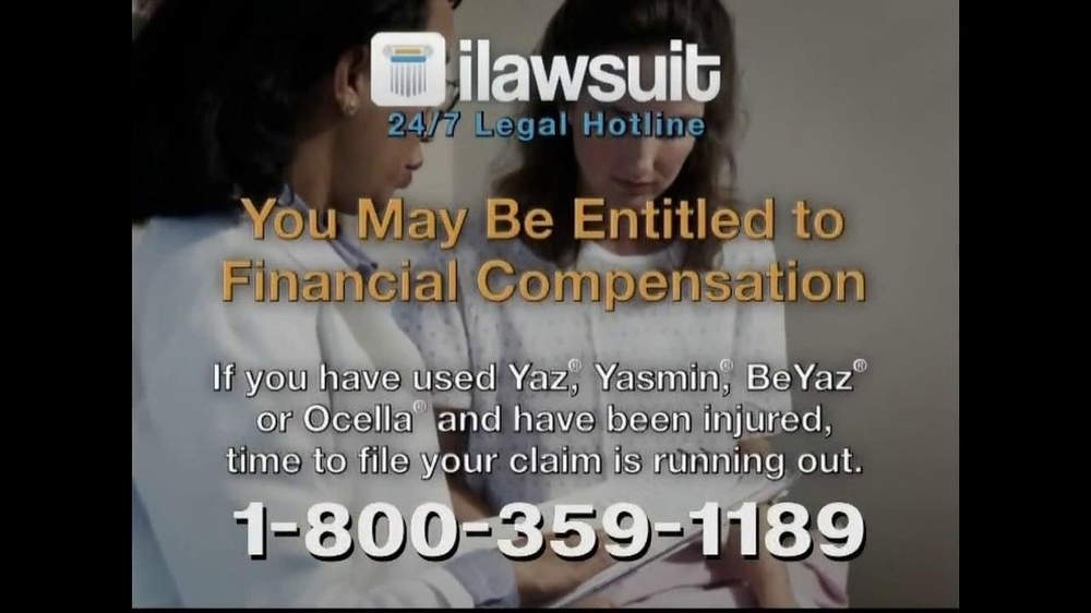 iLawsuit Legal Hotline TV Spot, 'Yaz' - Screenshot 8