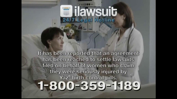 iLawsuit Legal Hotline TV Spot, 'Yaz' - Thumbnail 3