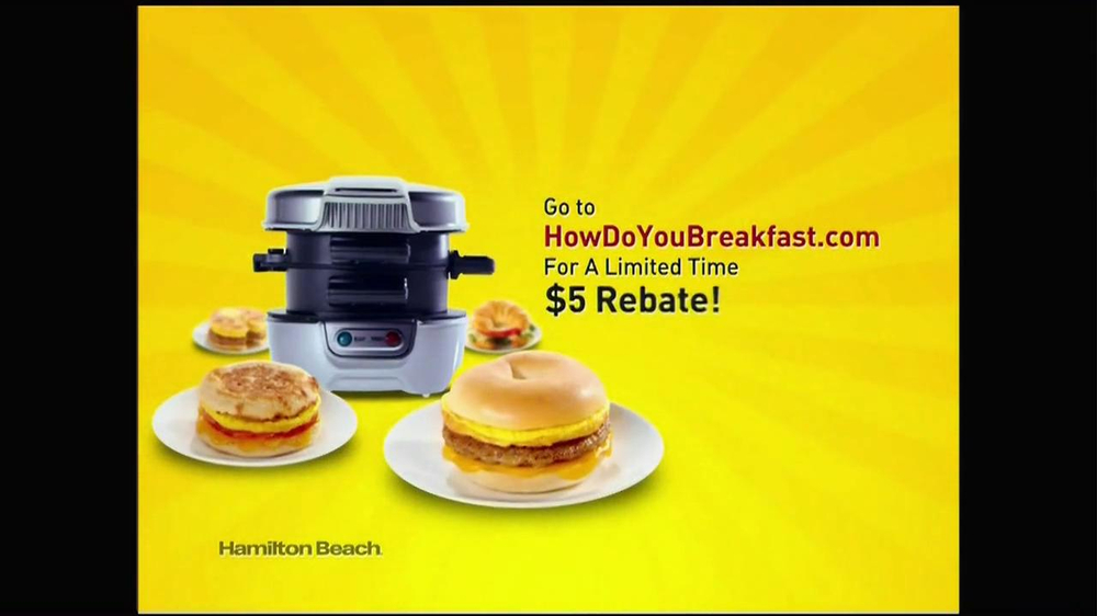 Hamilton Beach Breakfast Sandwich Maker TV Spot - Screenshot 10