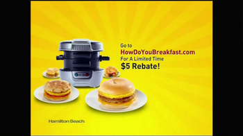Hamilton Beach Breakfast Sandwich Maker TV Spot - Thumbnail 10