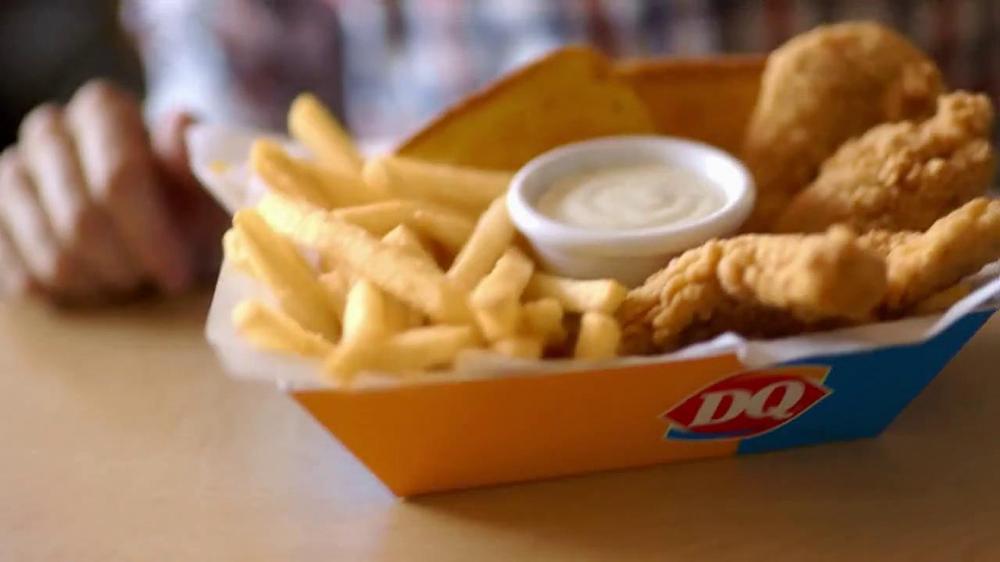 Dairy Queen Chicken Strip Basket Tv Commercial Fan Food