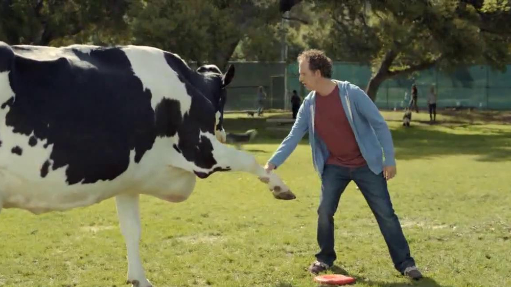 Chick fil a tv spot cow in the dog park screenshot 7