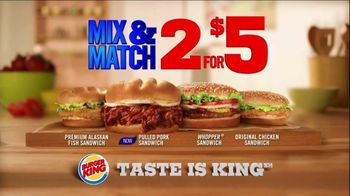 Burger King Pulled Pork Sandwich TV Spot, 'Mix & Match'
