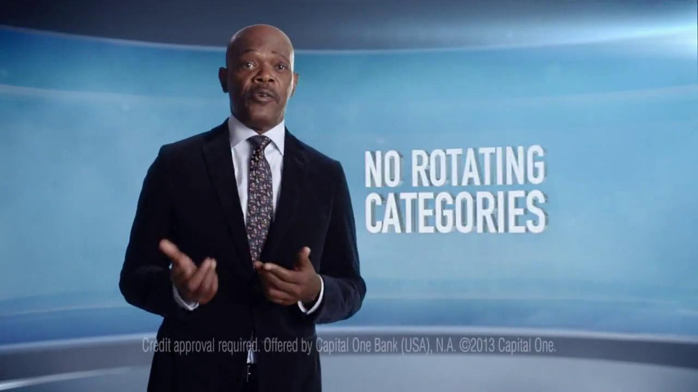 Capital One Quicksilver Cashback Card TV Spot Featuring Samuel L. Jackson - Screenshot 2