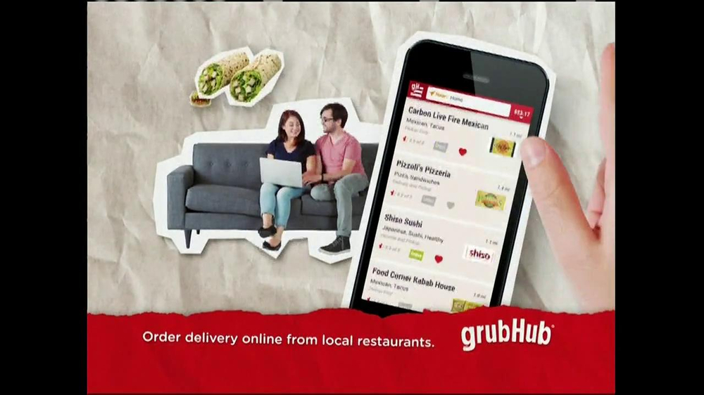 GrubHub TV Spot, 'Dressin' on the Side' - Screenshot 8