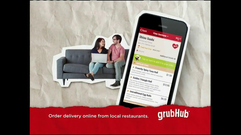 GrubHub TV Spot, 'Dressin' on the Side' - Screenshot 9