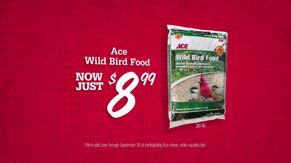 ACE Hardware TV Spot, 'Bird Food and Air Filters' - Screenshot 3