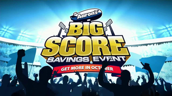 Aaron's Big Score Savings Event TV Spot, 'Get More October'