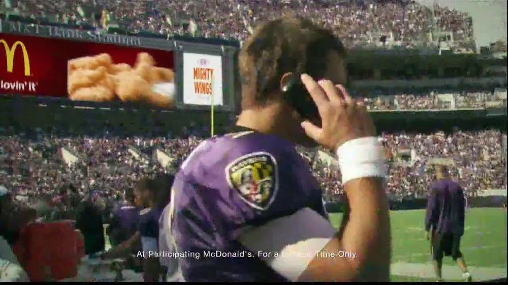 McDonald's Mighty Wings TV Spot, 'Lip Read' Ft Joe Flacco, Colin Kaepernick - Screenshot 9