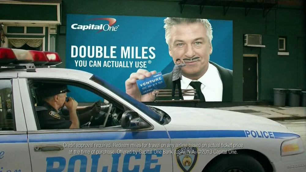 Capital One Venture Card TV Spot, 'Cops' Featuring Alec Baldwin ...
