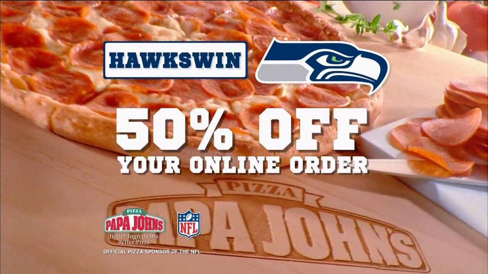 Papa John's TV Spot, 'Seahawks Win' - Screenshot 4