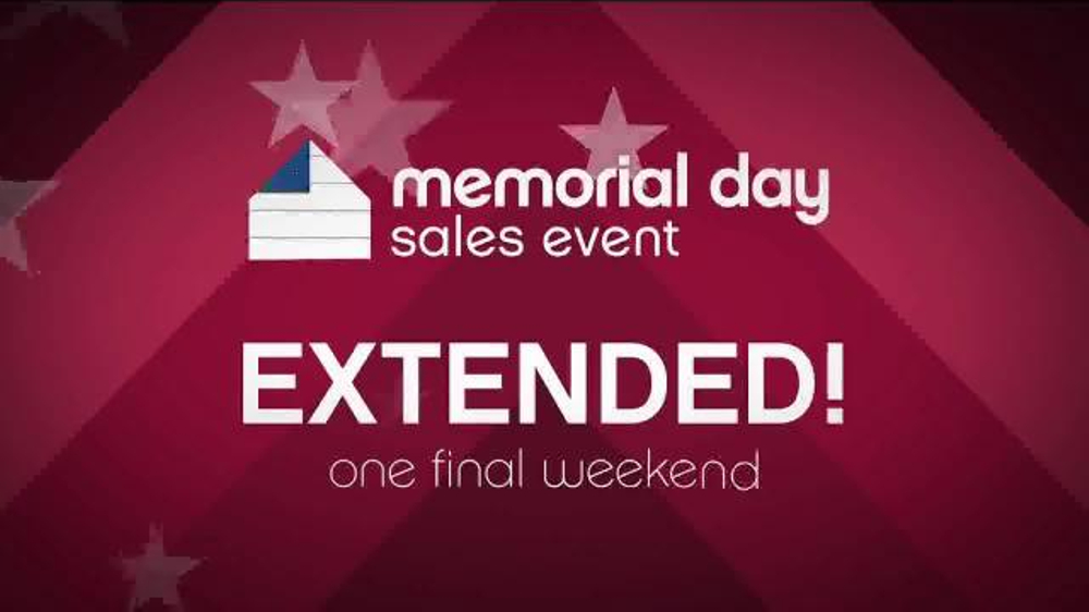 Appliance furniture stores tv commercials for Labor day weekend furniture sales