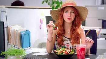 Wendy's Strawberry Fields Chicken Salad TV Spot, 'Office in a Summer Field' thumbnail