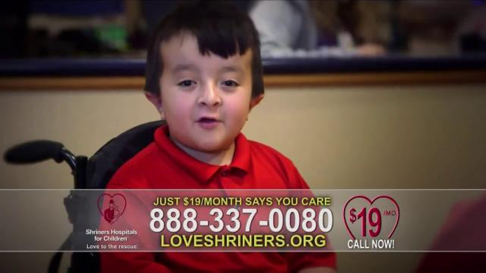 Shriners Hospitals For Children Because Of You Ispot Tv