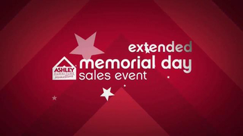 Ashley Furniture Homestore Memorial Day Sales Event TV Spot, 'Extended'