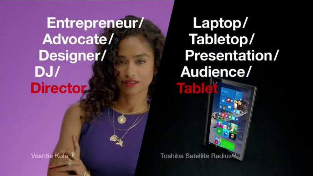 Toshiba Satellite Radius TV Spot, 'Director' Featuring Vashtie Kola