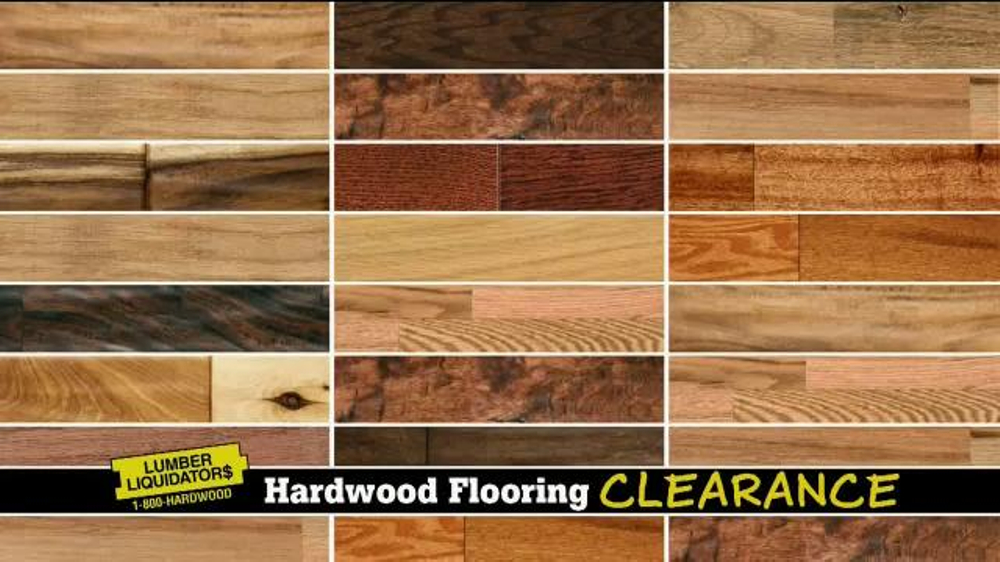 Lumber liquidators hardwood flooring clearance sale tv for Clearance hardwood flooring