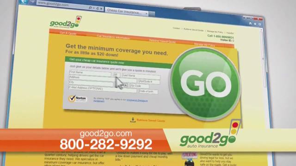 Good 2 Go Auto Insurance Tv Commercial Drive Legal