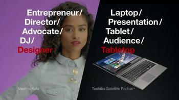 Toshiba Satellite Radius TV Spot, 'Tastemaker' Featuring Vashtie Kola