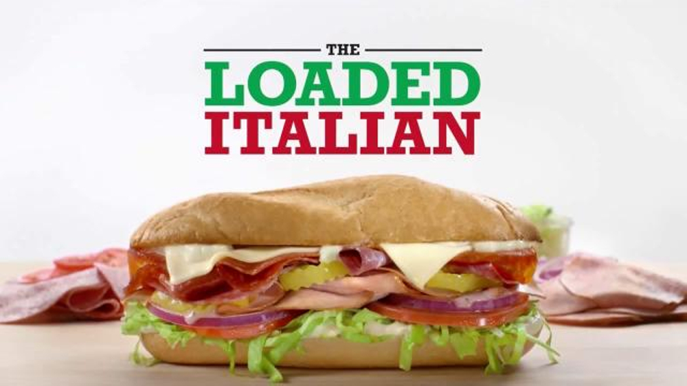 Arby 39 s loaded italian tv commercial 39 where do sandwiches for Does wendy s have a fish sandwich