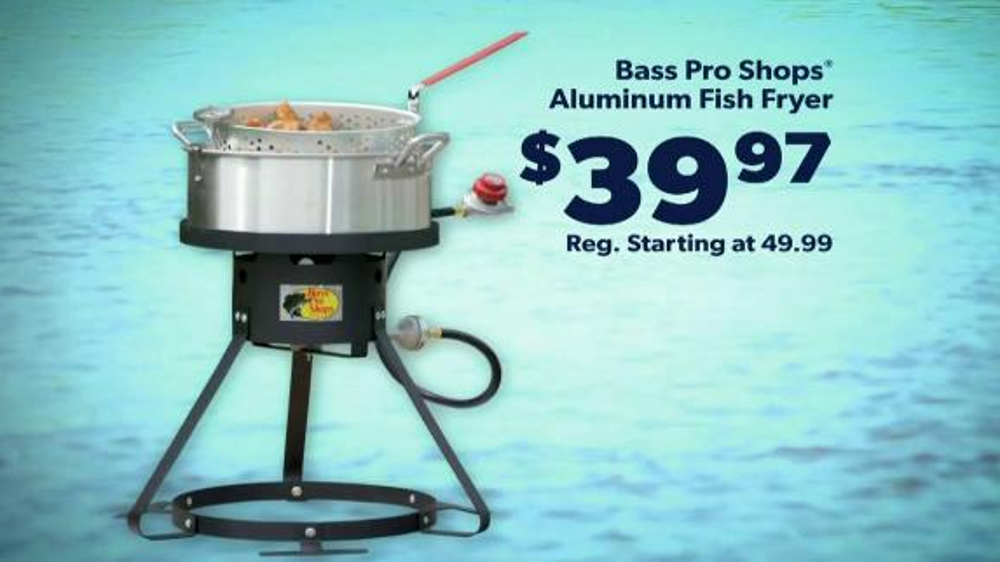 bass pro shops tv spot 39 polos fish fryer and towables