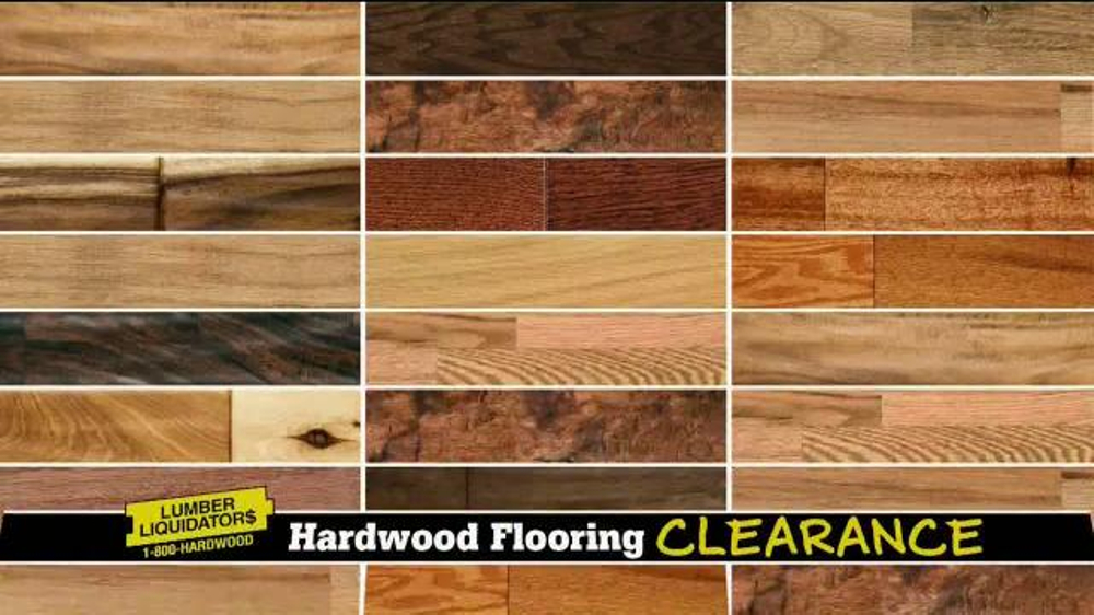Lumber liquidators hardwood flooring clearance tv for Clearance hardwood flooring