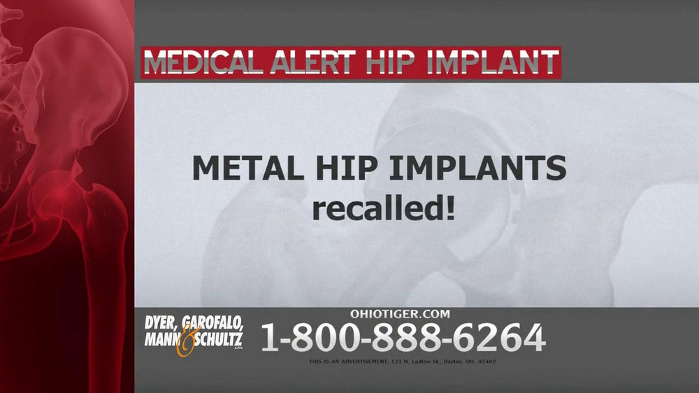 Dyer, Garofalo, Mann & Schultz TV Spot, 'Hip Implant' - Screenshot 2