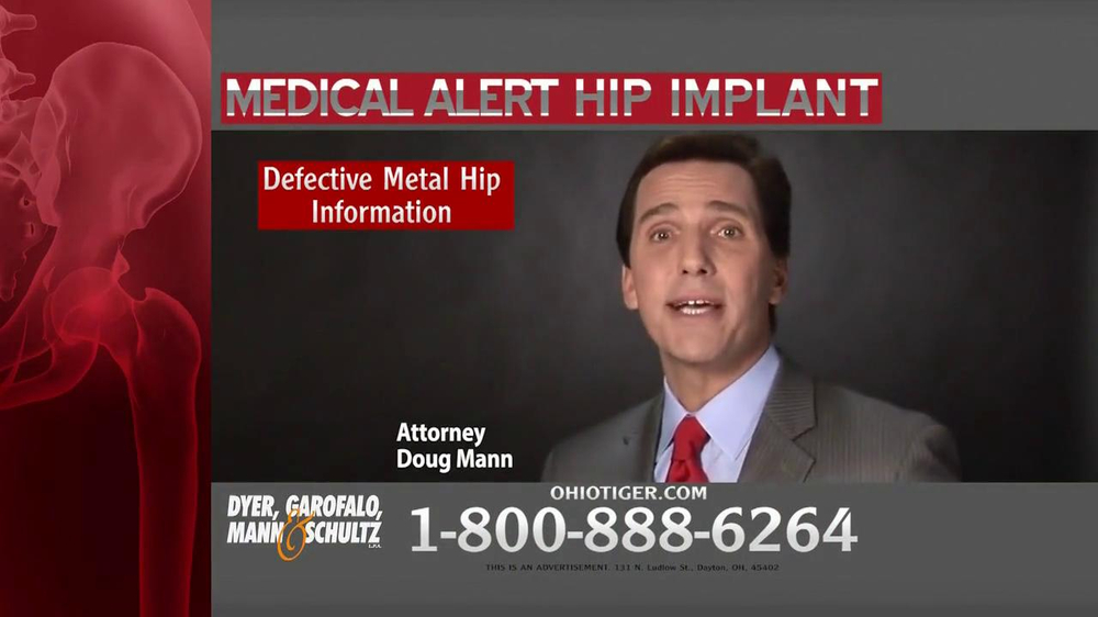 Dyer, Garofalo, Mann & Schultz TV Spot, 'Hip Implant' - Screenshot 7