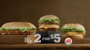 Burger King Big King TV Spot, 'Mix and Match'
