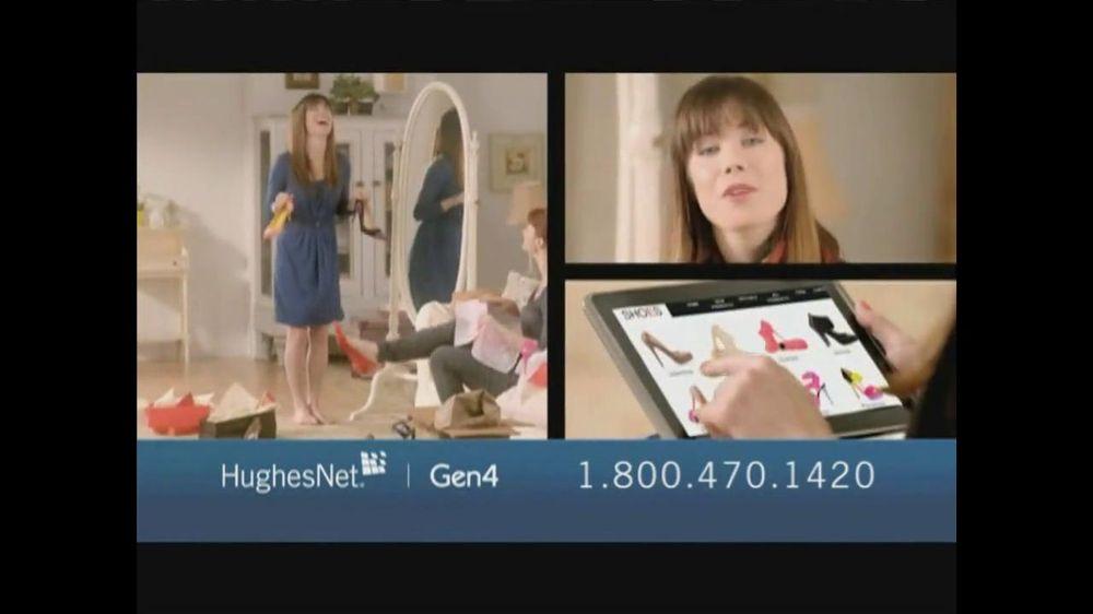Hughesnet Commercial Shoe Girl