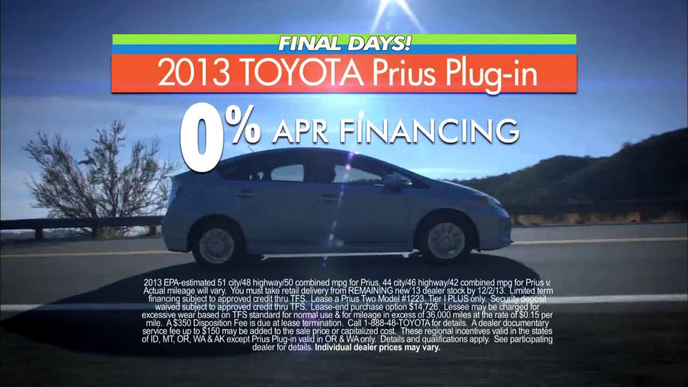toyota fall sales event prius tv commercial 39 final days. Black Bedroom Furniture Sets. Home Design Ideas