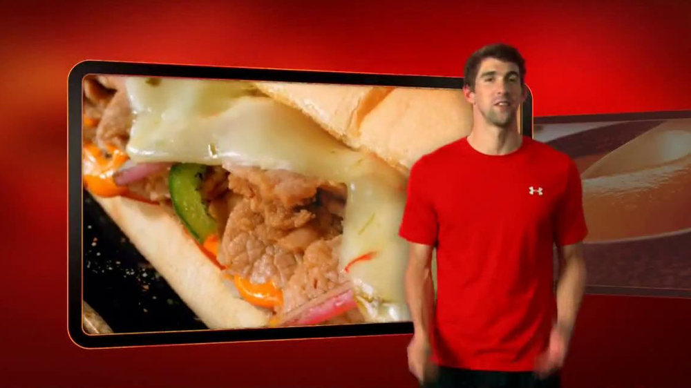 Subway Sriracha Chicken Melt TV Spot Feat. Michael Phelps, Pele - Screenshot 1