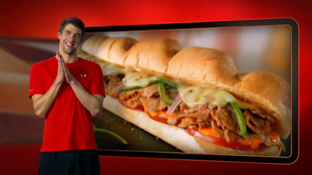 Subway Sriracha Chicken Melt TV Spot Feat. Michael Phelps, Pele - Screenshot 10
