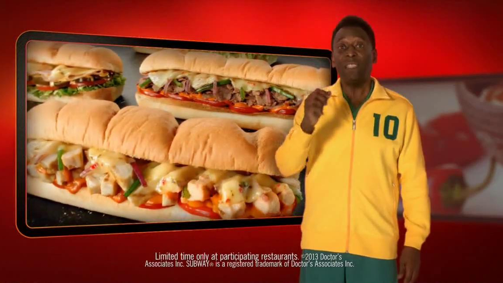 Subway Sriracha Chicken Melt TV Spot Feat. Michael Phelps, Pele - Screenshot 5