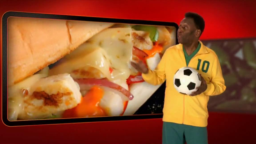 Subway Sriracha Chicken Melt TV Spot Feat. Michael Phelps, Pele - Screenshot 8