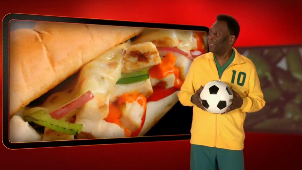 Subway Sriracha Chicken Melt TV Spot Feat. Michael Phelps, Pele - Screenshot 9