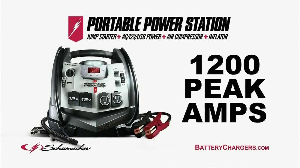 Schumacher portable power station battery life
