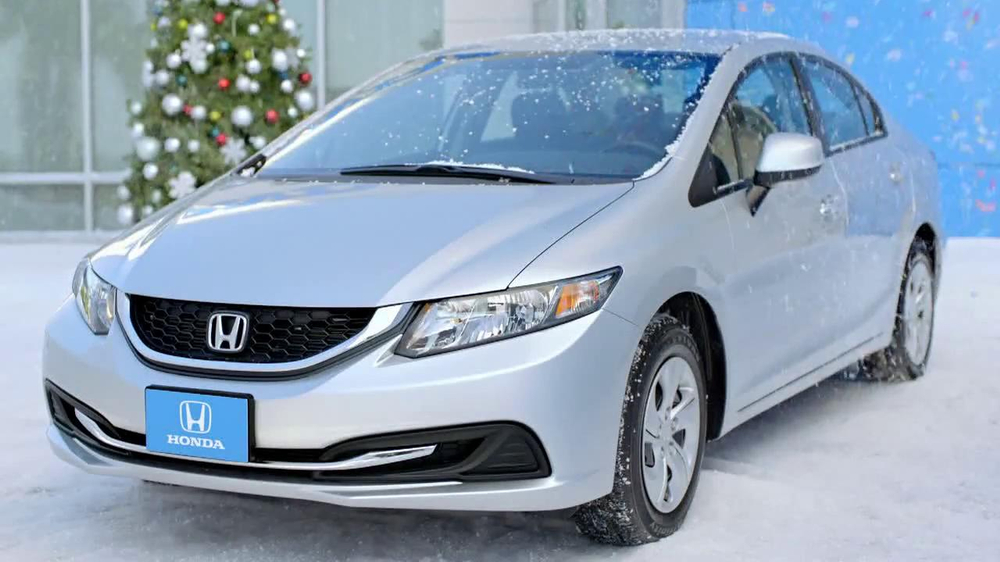 2013 honda civic lx sedan tv spot 39 snow is gonna blow 39 ft for Honda fit in snow
