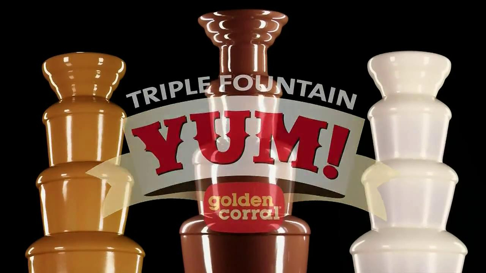 Golden Corral Triple Fountain Yum TV Spot - Screenshot 6