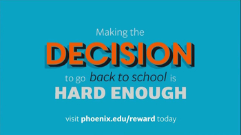 University of Phoenix Scholarship Reward Program TV Spot
